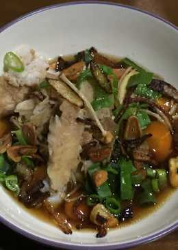 Steam ikan dory with enoki
