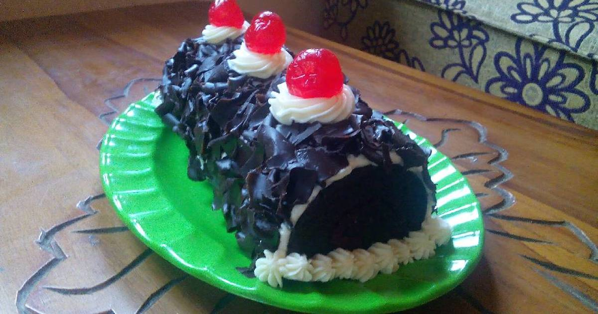Resep Black Forest (Steam Roll Cake)