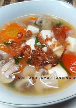 Sup Tahu Jamur Kancing