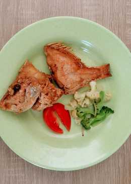 Ikan kakap merah goreng (MPASI 1y+)