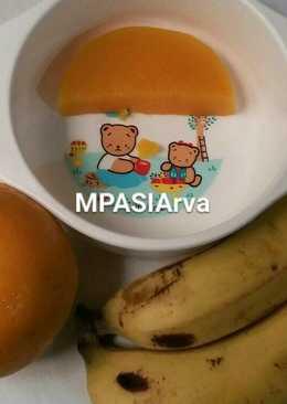 Puding Labu Madu Saos Pisbon & Naga Merah (MPASI7bulanplus)