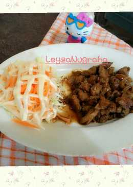 Chicken Teriyaki and Salad