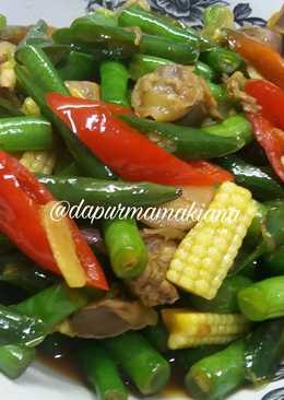 Tumis buncis putren featuring ampela ayam