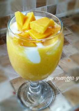 Jus mangga yogurt (healthier) #enakanbikinsendiri