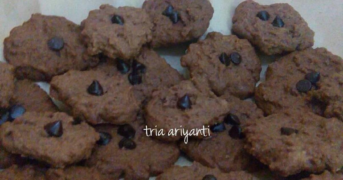 Resep Cookies Coklat (eggless)