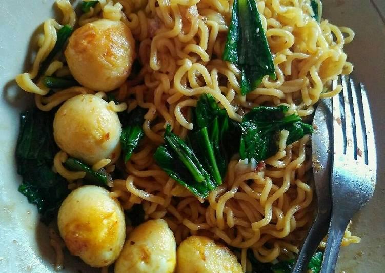 resep masakan Mie goreng telur puyuh