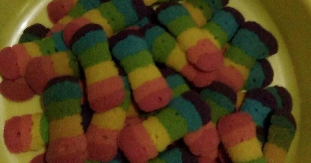 Resep Lidah kucing rainbow simpel