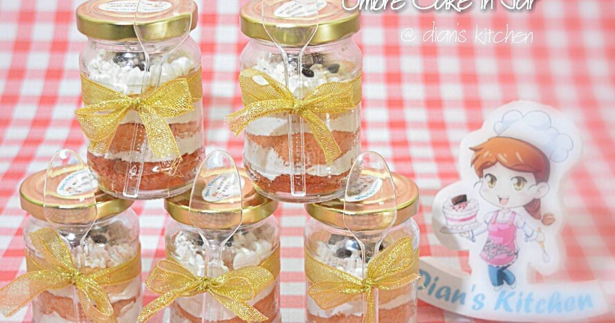 Resep Cake In Jar Rainbow: Resep Ombre Cake In Jar Oleh • Dian's Kitchen •
