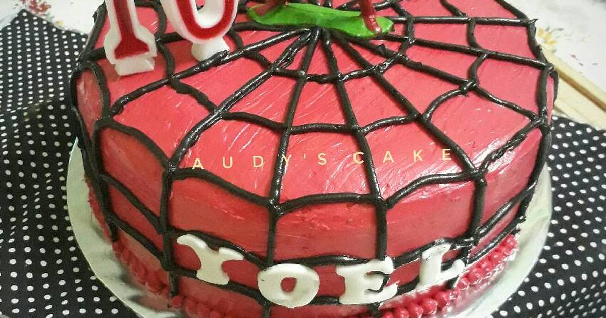 5 Resep Kue Ulang Tahun Spiderman Enak Dan Sederhana Cookpad