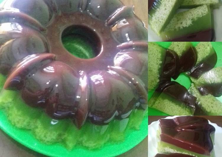 Puding Lumut Lapis Coklat