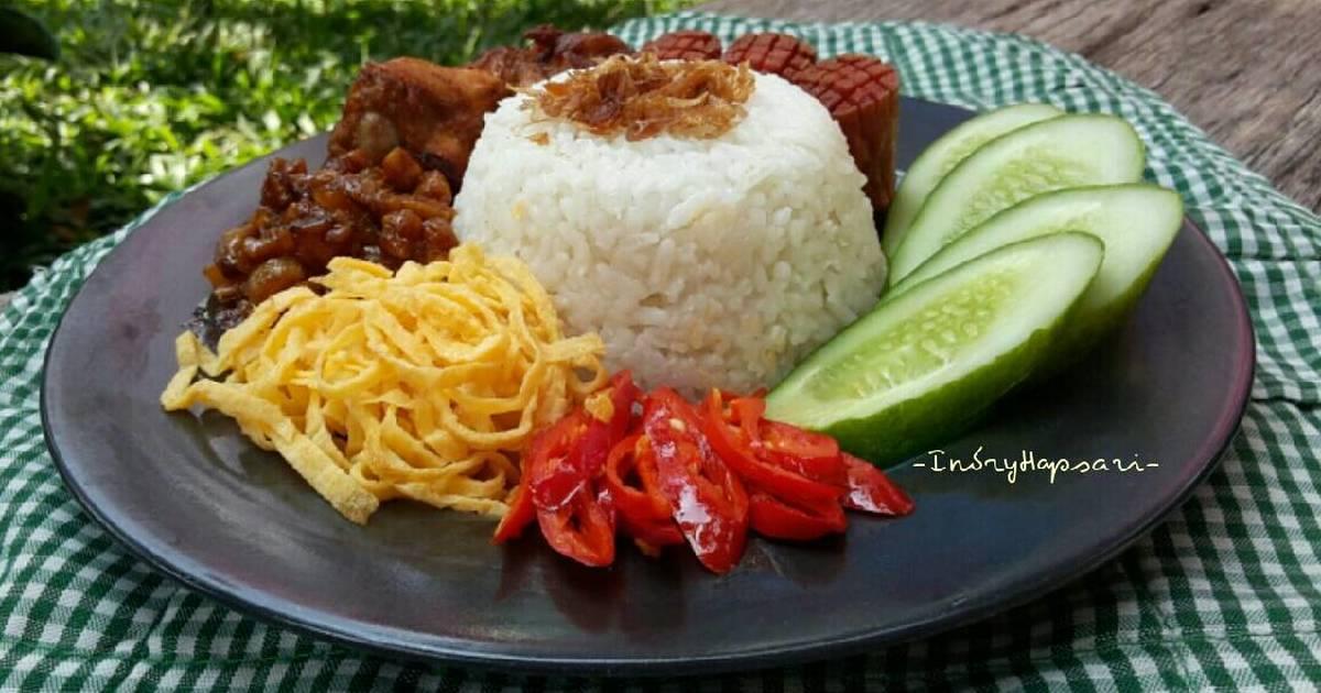 nasi uduk lengkap