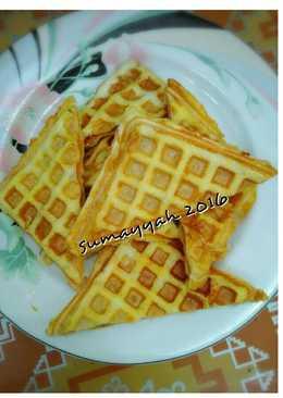 Waffle roti sederhana