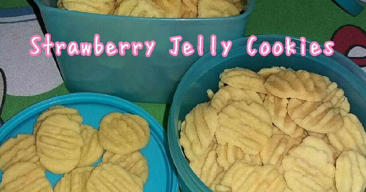 Resep Strawberry Jelly Cookies
