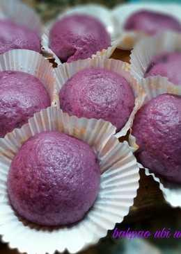 Bakpao ubi ungu tanpa timbangan