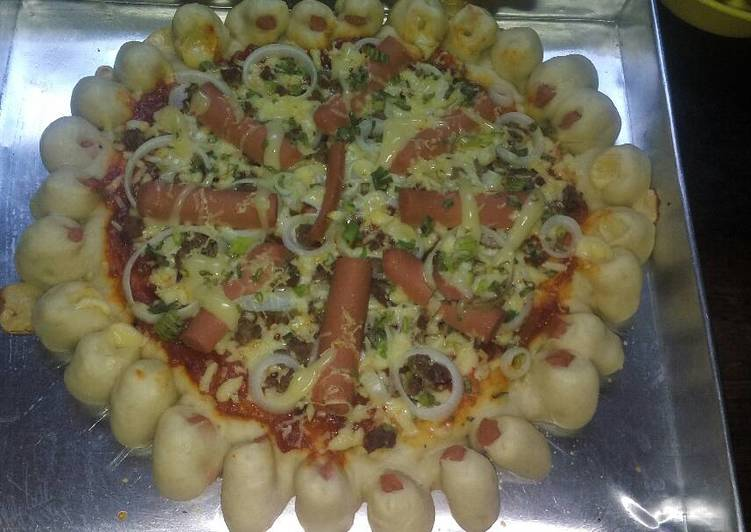 Pizza beef sosis