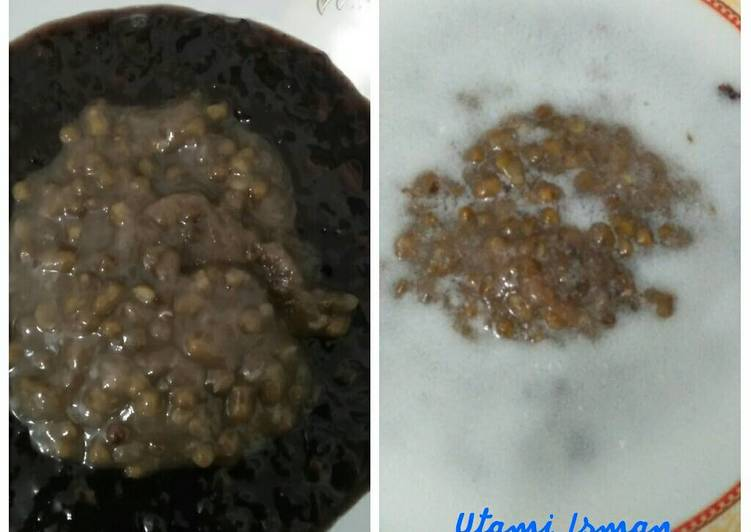 Resep Bubur Kacang Hijau-Ketan Hitam - Utami Soemohardjo