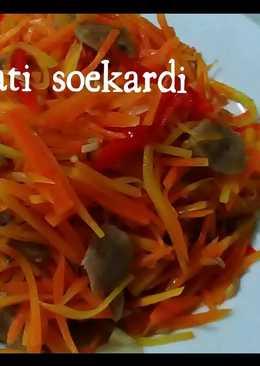 Tumis wortel dan bakso sapi yamii