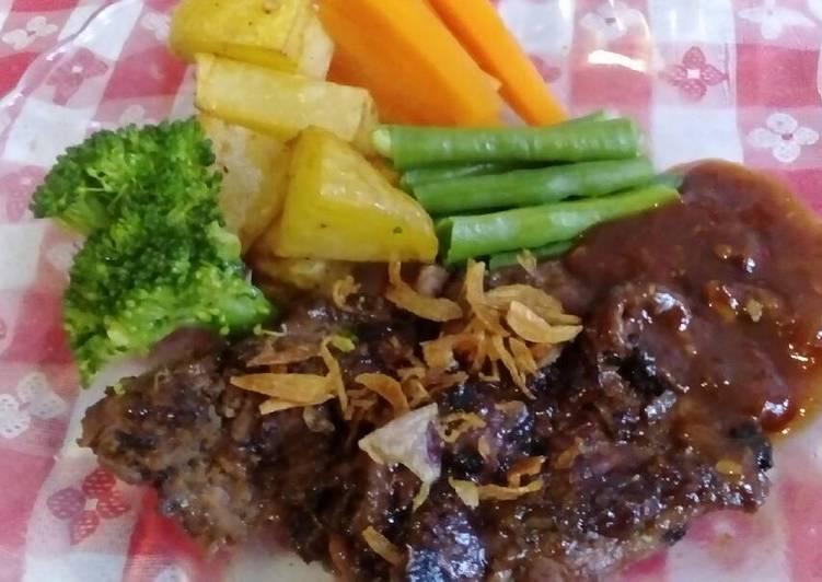 steak daging sapi rumahan foto resep utama