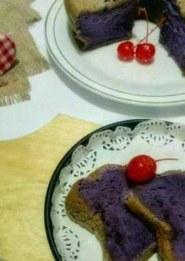 Chiffon taro aka ubi ungu#beranibaking