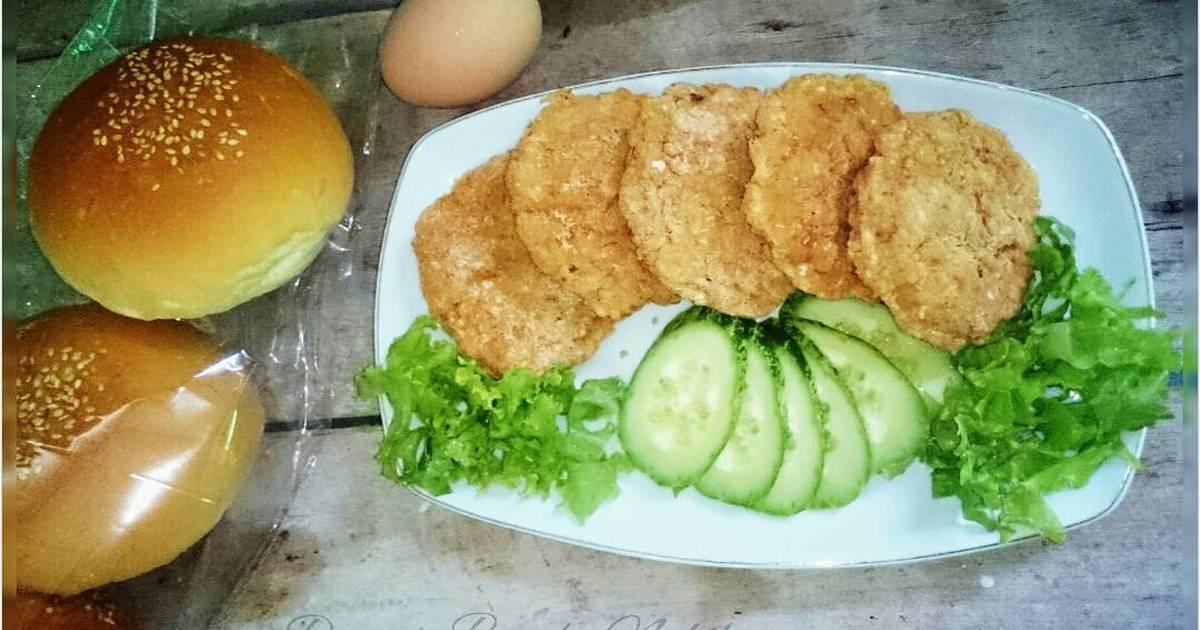 ayam olahan isi hamburger   72 resep   cookpad