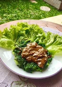 Rujak Kangkung daun selada