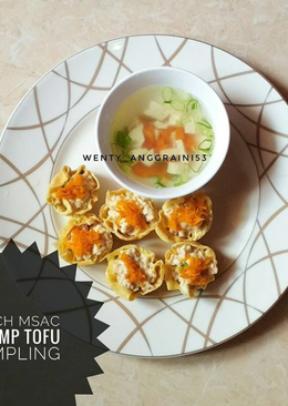 Shrimp Tofu Dumpling (menu diet) no tepung no kulit pangsit