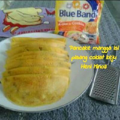 Pancake mangga isi pisang coklat keju #MenuSehatAnak