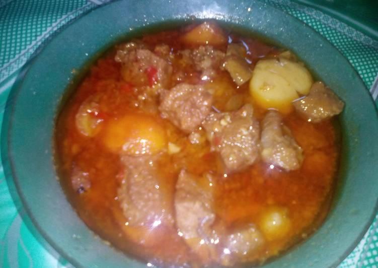 Rendang Daging Sapi dan Jengkol