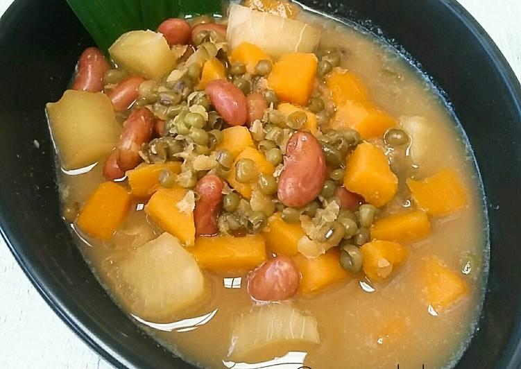 Resep Kolak Campur (Kacang Ijo, Kacang Merah, Ubi rambat, Singkong, Jagung) By Yulita Rivani | @mamak_keany