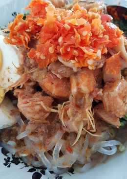 Mie shirataki Ayam Udang (mie ayam diet)