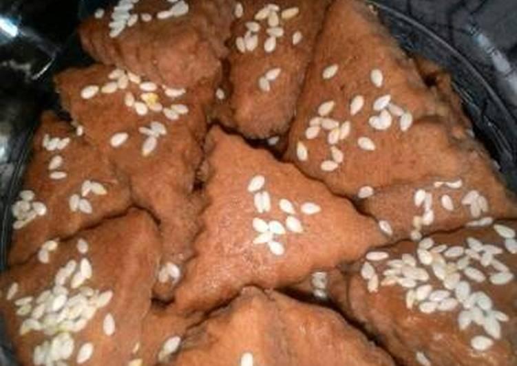 resep Cookies kentang coklat wijen putih