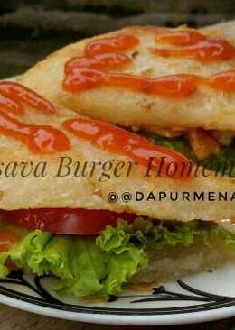 Cassava Burger Homemade, no Msg #indonesiamemasak