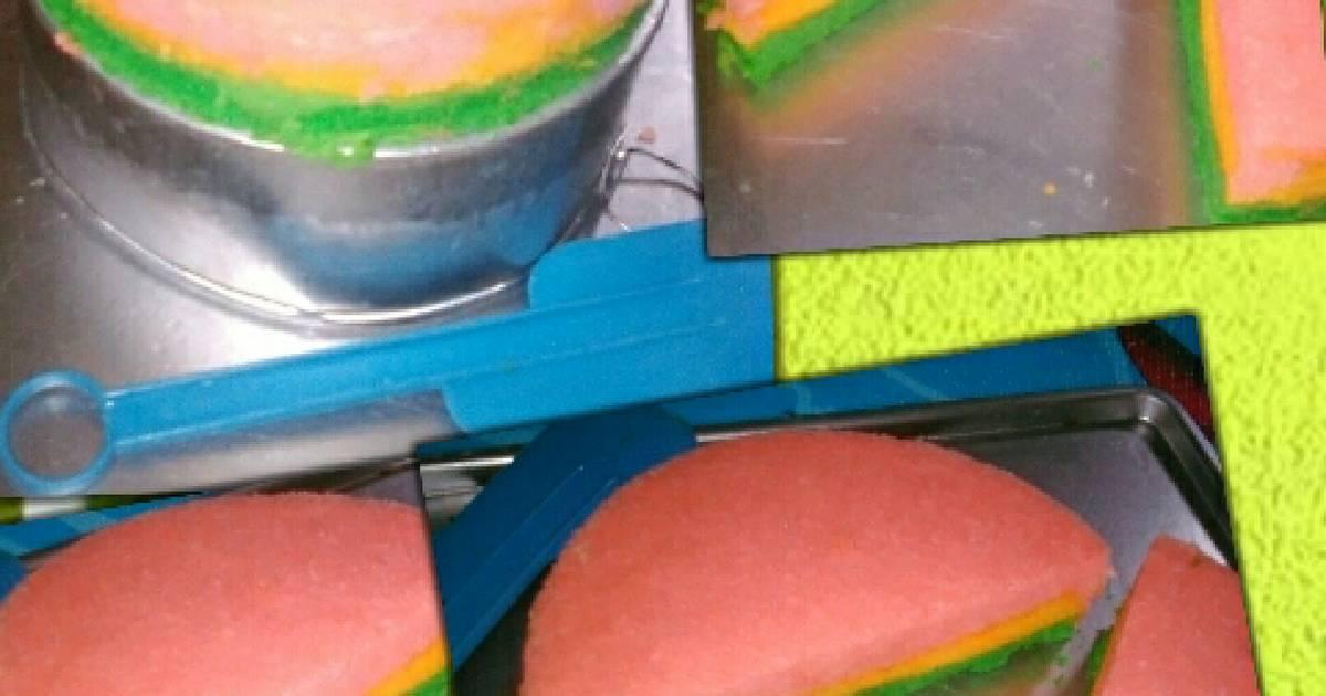 Resep Bolu lapis 3 warna kukus magiccom
