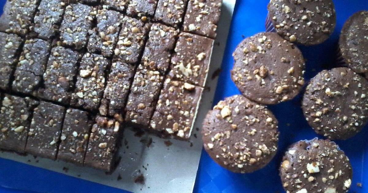 Resep Bolu cokelat taburan kacang
