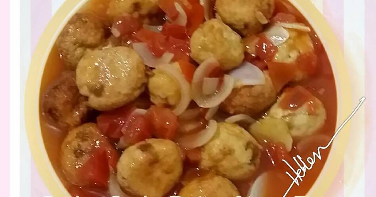 bola ayam saus kecap   7 resep   cookpad