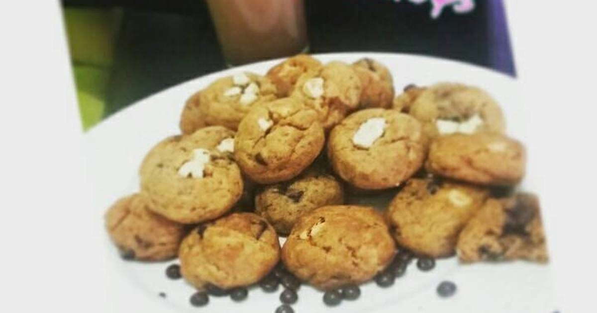 "Resep chewy ""mini monster"" chocochip cookies recook recipe tintin rayner😁😄"