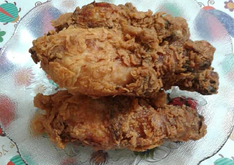 bahan dan cara membuat Ayam goreng crispy