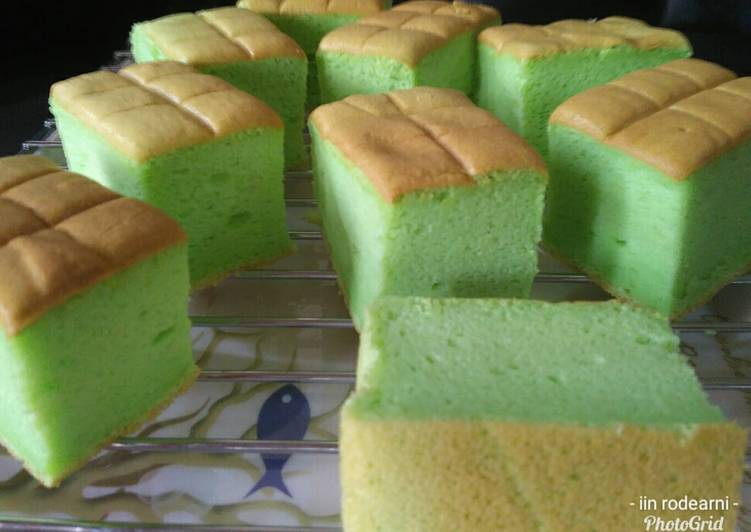 gambar untuk resep Ogura Cake Pandan