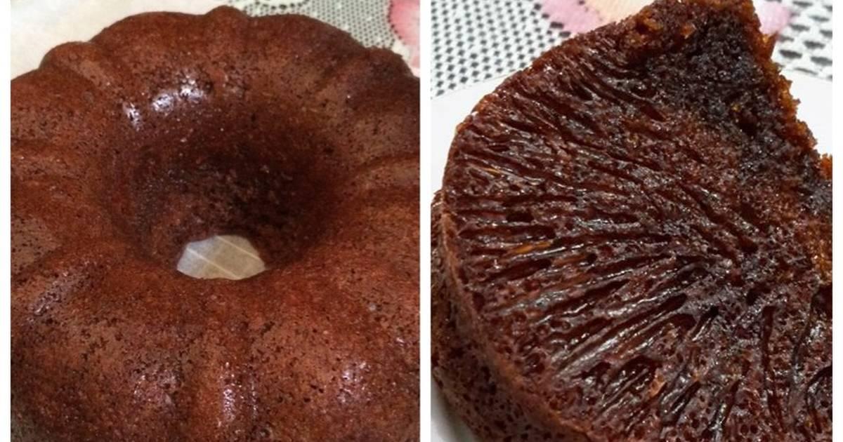 Resep Bolu caramel/Bolu sarang semut