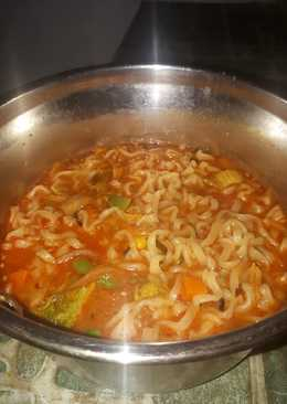 Ramyon mix keju sayur kimchi