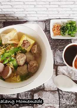 Bakso Malang Homemade empuk, kenyal,maknyoss,dijamin antigagal