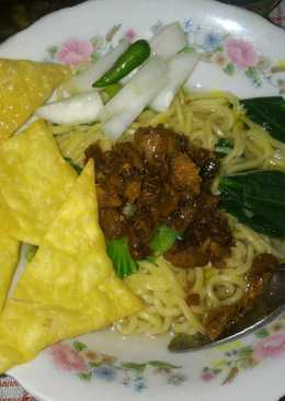 Mie ayam sehat non MSG