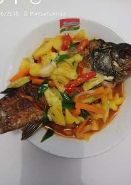Ikan mas goreng saus nanas,#BikinRamadanBerkesan part 25