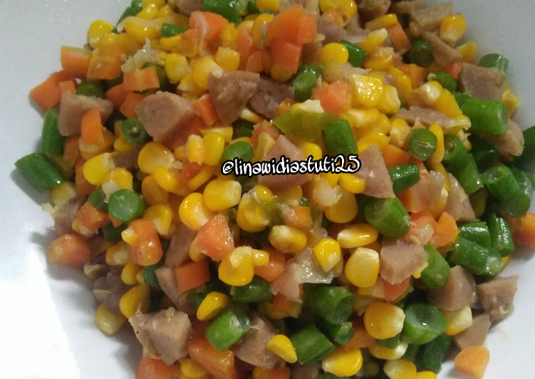 Tumis Mix Veggie + Bakso