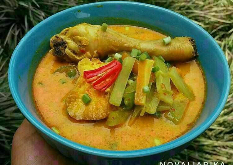 Resep Lontong Kari Ayam Sayur oleh Novalia Rika Resep Lontong Kari Ayam Sayur Karya Novalia Rika