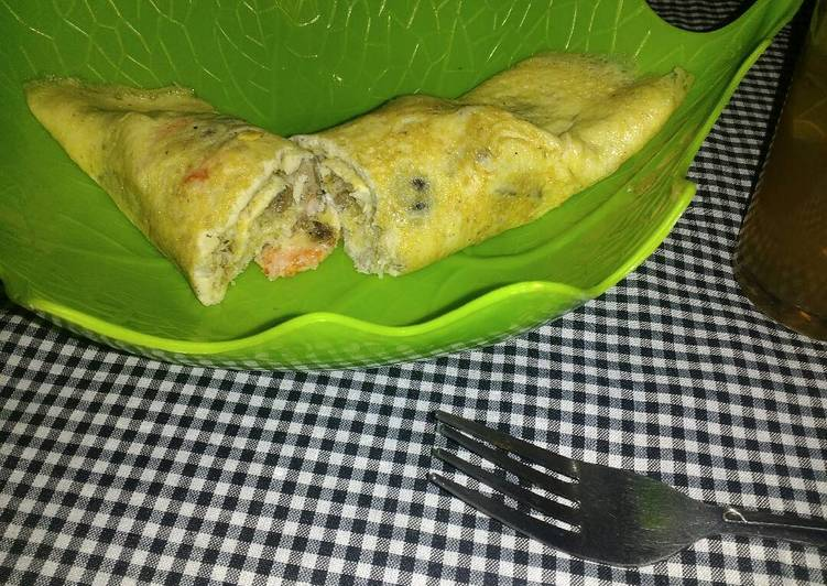 resep lengkap untuk Omelet udang ati ampela keju (keto friendly)
