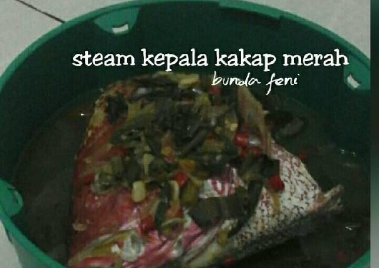 Steam kepala kakap merah