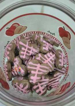 Kue kering coklat hias teflon
