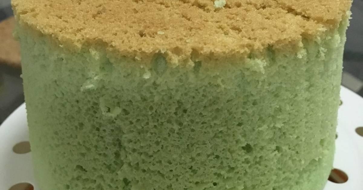 Resep Pandan Chiffon Cake in rice cooker Enakk Wangii