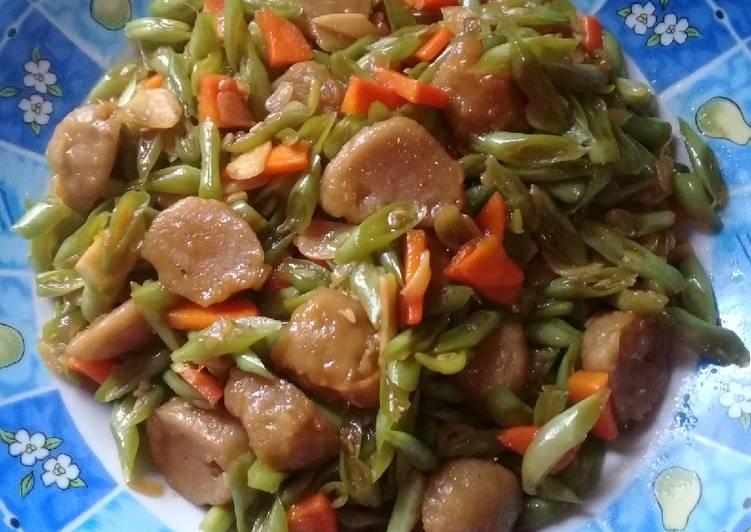 Tumis buncis wortel bakso sapi😋😋